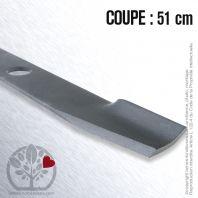 Lame pour Honda, Husqvarna, Electrolux  PB13989.Pubert 406165. Coupe 51 cm