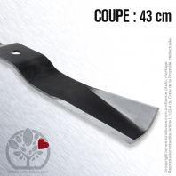 Lame Pour Iseki 8595306-06100. Coupe 43 cm
