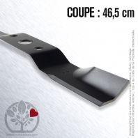 Lame. Coupe 46,5 cm. Section 57 x 4. Alèsage 25 .