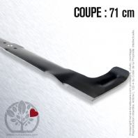 Lame. Coupe 71 cm. Section 55 x 4. Alèsage 18,5.