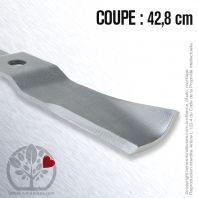 Lame Pour Iseki 8595306-004-00. Coupe 42,8 cm