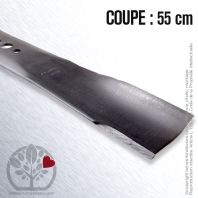 Lame. Coupe 55 cm. Section 63 x 4. Alèsage 16 mm