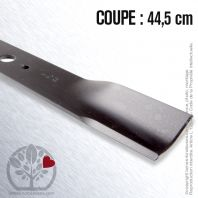 Lame. Coupe 44,5 cm. Section 55 x 3. Alèsage 18,5.