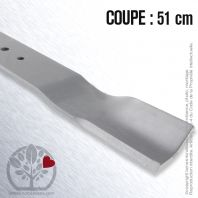 Lame. Coupe 51 cm. Section 55 x 4. Alèsage 10