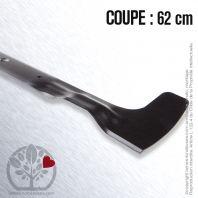 Lame pour Castelgarden, Iseki, Stiga. 62 cm