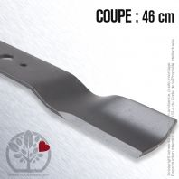 Lame. Coupe 46 cm. Section 55 x 4. Alèsage 16 .