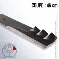 Lame. Coupe 46 cm. Section 64 x 5,2. Alèsage 15,9.