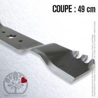 Lame pour Husqvarna, Electrolux 138497. Coupe 49 cm