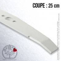 Lame pour Flymo 512617900. 512653500. 512653501/1. Coupe 25 cm