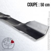 Lame. Coupe 50 cm. Section 54 x 3,5. Alèsage 9,5.