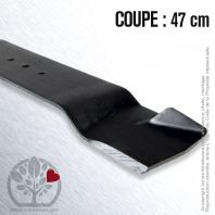 Lame. Coupe 47 cm. Section 76 x 3. Alèsage 10.