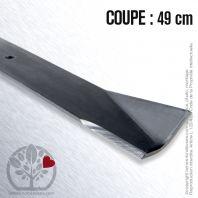 Lame pour Roper 25036R, 106634X, 100669R. Coupe 49 cm