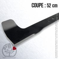 Lame. Coupe 52 cm. Section 55 x 4. Alèsage 16. Coupe à gauche