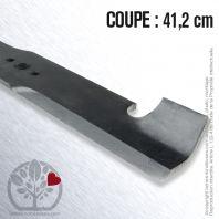 Lame pour Husqvarna, Electrolux 17036, 77378. Coupe 41,2 cm