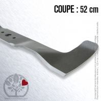 Lame. Coupe à droite 52 cm. Section 55 x 4. Alèsage 18