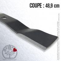 Lame pour John Deere M136195. Coupe 48,2 cm