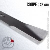 Lame. Coupe 42 cm. Section 50 x 5. Alèsage 18,2.