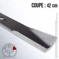 Lame. Coupe 42 cm. Section 50 x 5. Alèsage 18,2.