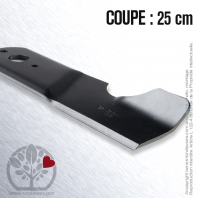 Lame tondeuse. Coupe 25cm. MTD
