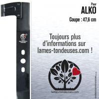 Lame pour Alko 513628 , 328531, 102299, 313796, 314121, 314240, 316911. Coupe 47,6 cm