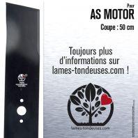 Lame pour AS Motor 5519, 1837, 3077, E01837, E03077, E05519. Coupe 50 cm