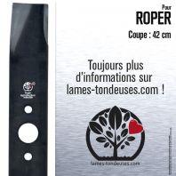 Lame pour Roper 9485H, 25322R, 25107, 25322, 9497R, 7322H. Coupe 42 cm
