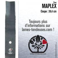 Lame tondeuse.Coupe 39,4 cm. Maplex