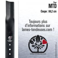 Lame tondeuse. Coupe 66,2 cm. MTD