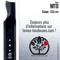 Lame tondeuse.Coupe 53,8 cm. MTD