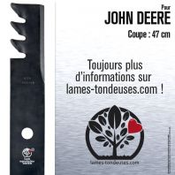 Lame pour John Deere M115496. Coupe 47 cm