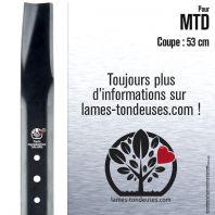 Lame pour MTD 7420124 , 942-0124B. Coupe 53 cm