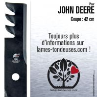 Lame pour John Deere M113517. Coupe 42 cm