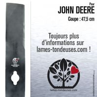 Lame pour John Deere M122455. Coupe 47,5 cm