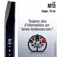 Lame tondeuse. Coupe 76 cm. MTD