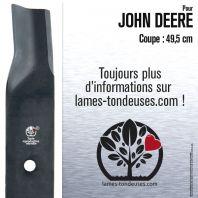 Lame pour John Deere M84472. Coupe 49,5 cm