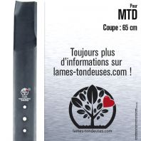 Lame tondeuse. Coupe 65 cm. MTD