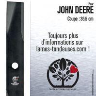 Lame pour John Deere AM30698, AM100991, M41237. Coupe 35,5 cm
