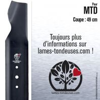 Lame tondeuse. Coupe 49 cm. MTD