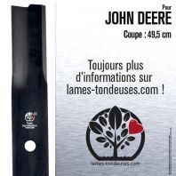 Lame pour John Deere M82408,AM100946. Coupe 49,5 cm