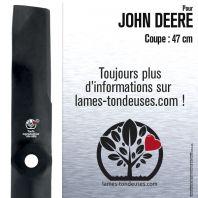 Lame pour John Deere M115496,M113518. Coupe 47 cm