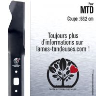 Lame tondeuse. Coupe 53,2 cm. MTD
