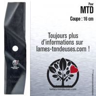 Lame tondeuse. Coupe 16 cm. MTD