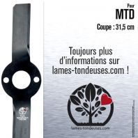 Lame tondeuse. Coupe 31,5 cm. MTD