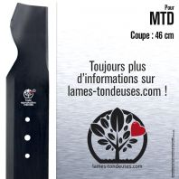 Lame tondeuse. Coupe 46 cm. MTD