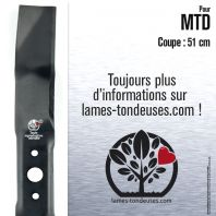 Lame tondeuse.  Coupe 51 cm. MTD