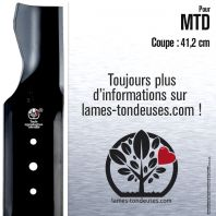 Lame tondeuse. Coupe 41,2 cm. MTD