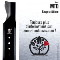 Lame tondeuse.  Coupe 46,5 cm. MTD