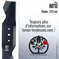 Lame tondeuse. Coupe 37,5 cm. MTD