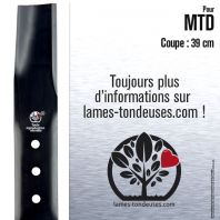 Lame tondeuse. Coupe 39 cm. MTD