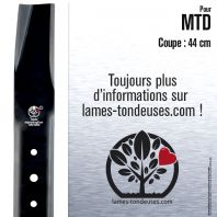 Lame tondeuse. Coupe 44 cm. MTD